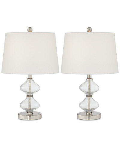 Macys Table Lamps Enchanting Pacific Coast Set Of 60 Glass Spiral Table Lamps Created For Macy's