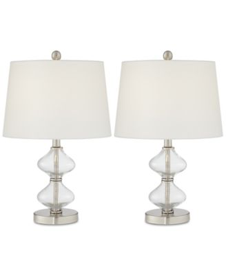 Wonderful Pacific Coast Set Of 2 Glass Spiral Table Lamps, Created For Macyu0027s