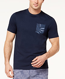 Michael Kors Men's Botanical-Print Pocket T-Shirt