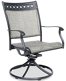 Vintage II Outdoor Sling Swivel Chair, Created for Macy's