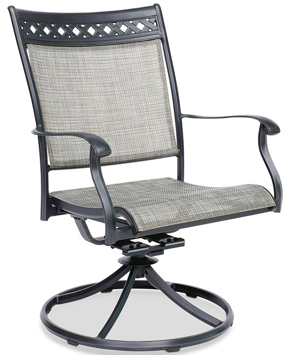 Furniture Vintage II Outdoor Sling Swivel Chair, Created for Macy's