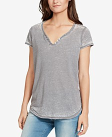 Cooper Button-Trim T-Shirt