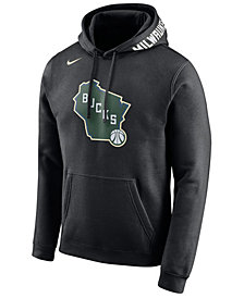 Nike Men's Milwaukee Bucks City Club Fleece Hoodie