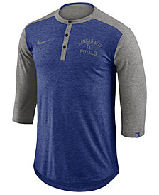 Nike Men's Kansas City Royals Dry Henley Top
