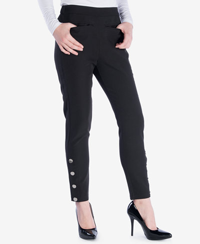 Verona Collection Button-Detail Pants