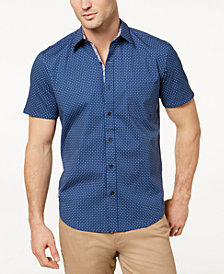 Con.Struct Men's Stretch Dot-Print Slim-Fit Shirt, Created for Macy's