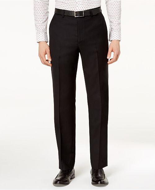 Michael Kors Men's Classic-Fit Airsoft Stretch Solid Suit Pants