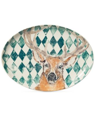 Into the Woods Collection Deer Large Oval Platter