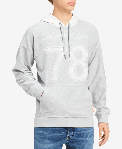 Calvin Klein Jeans Men's Athletic Collage 78 Graphic-Print Twill Hoodie, Created for Macy's