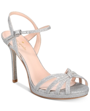 65c0bc9b7c86 KATE SPADE New York Women S Florence Glittered Leather High-Heel Sandals