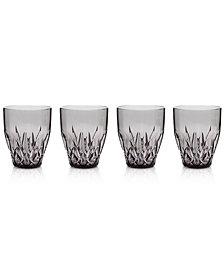 Q Squared Aurora Twilight Stemless Wine Glasses, Set of 4