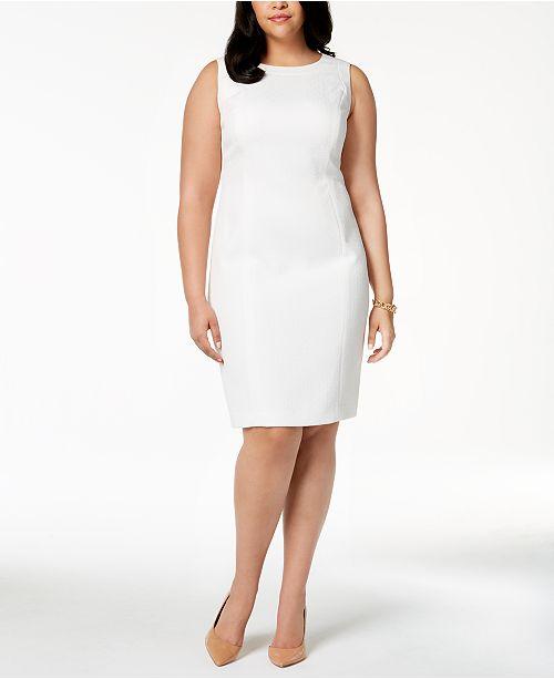 Kasper Plus Size Jacquard Sheath Dress Dresses Women Macys