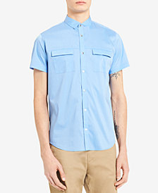 Calvin Klein Men's Stretch Snap-Front Dual-Pocket Shirt