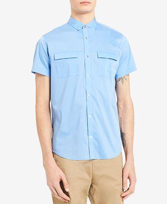 Calvin Klein Men's Poplin Utility Shirt