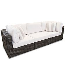 Viewport Outdoor 3-Pc. Modular Seating Set (2 Corner Units and 1 Armless Unit) with Sunbrella® Cushions, Created for Macy's