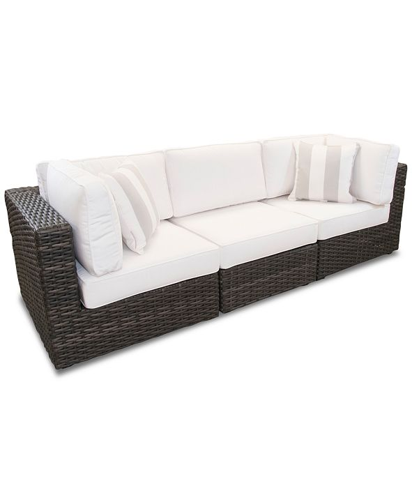 Furniture Viewport Outdoor 3-Pc. Modular Seating Set (2 Corner Units and 1 Armless Unit) with Sunbrella® Cushions, Created for Macy's