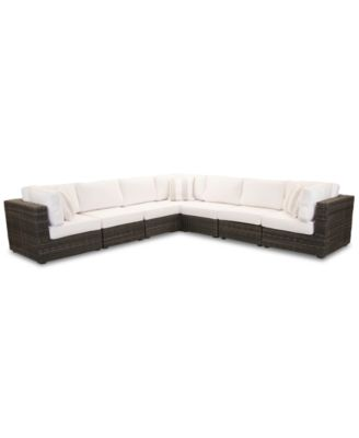 Viewport Outdoor 7-Pc. Modular Seating Set (3 Corner Units and 4 Armless Units), Created for Macy's