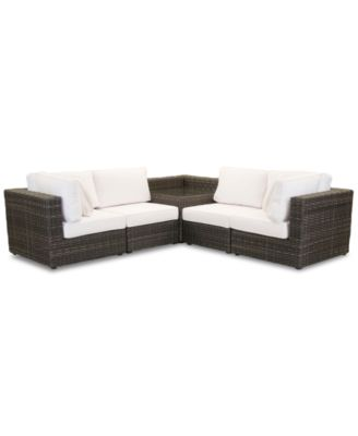 Viewport Outdoor 5-Pc. Modular Seating Set (2 Corner Units, 2 Armless Units and 1 Corner Table), Created for Macy's