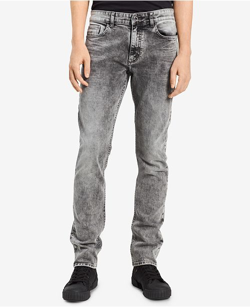 Fit Stretch Ash Skinny Men's Storm Klein Jeans Calvin wqp18Y