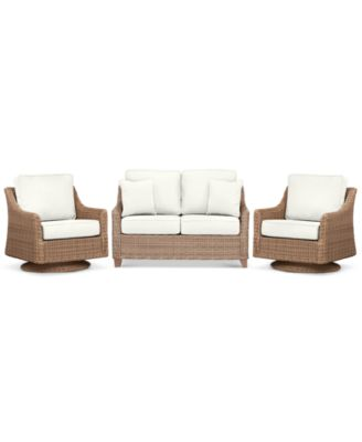 Willough Outdoor 3-Pc. Set (1 Loveseat & 2 Swivel Gliders), Created for Macy's