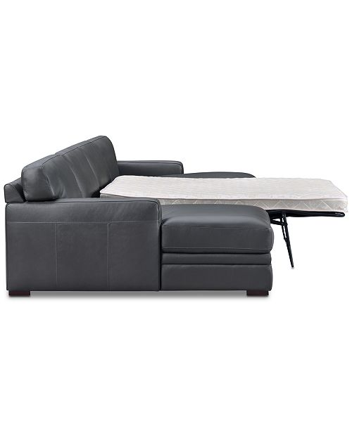 Groovy Avenell 3 Pc Leather Sectional With Double Chaise Full Sleeper Loveseat Created For Macys Evergreenethics Interior Chair Design Evergreenethicsorg