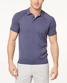 Michael Kors Men's Knit Raglan-Sleeve Polo