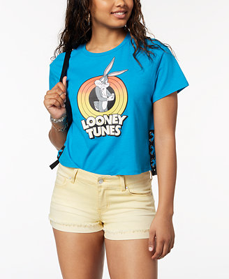 Juniors' Looney Tunes Graphic Print T Shirt by Love Tribe