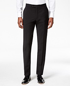 Men's Modern-Fit Flex Stretch Black Tuxedo Pants
