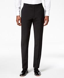 Tommy Hilfiger Men's Modern-Fit Flex Stretch Black Tuxedo Pants