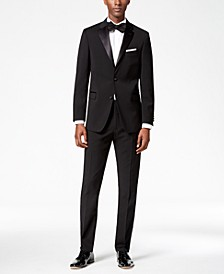 Men's Modern-Fit Flex Stretch Black Tuxedo Separates