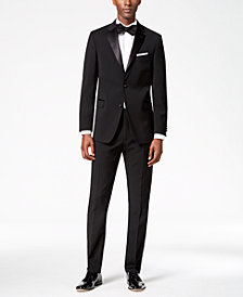 Tommy Hilfiger Men's Modern-Fit Flex Stretch Black Tuxedo Separates