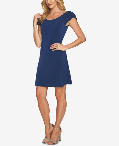 CeCe Bubble-Sleeve Dress