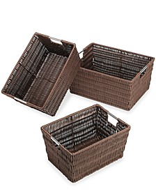 Storage Baskets, Set of 3 Rattique