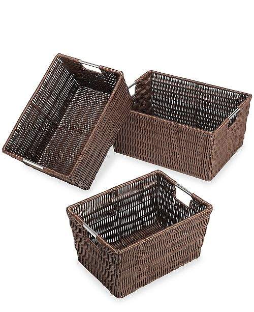 Whitmor Storage Baskets, Set of 3 Rattique