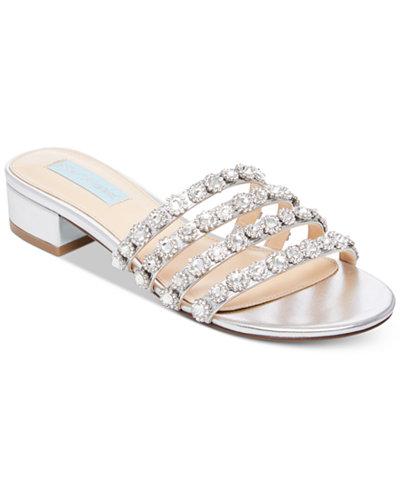Blue by Betsey Johnson Sophi Embellished Slide Sandals