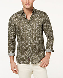 Michael Kors Men's Printed Linen Shirt