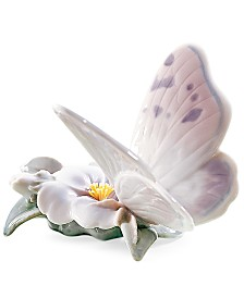 Lladro Collectible Figurine, Refreshing Pause Butterfly