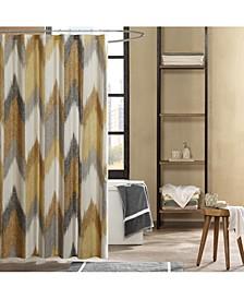"""Alpine Cotton 72"""" x 72"""" Broken Chevron-Print Shower Curtain"""
