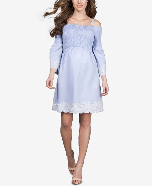 c311721cdec7f Seraphine Maternity Off-The-Shoulder Dress & Reviews - Maternity ...