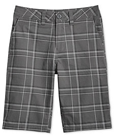 Univibe Tommaso Plaid Cotton Shorts, Big Boys