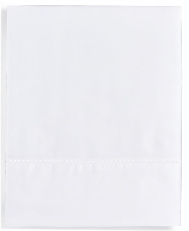 Martha Stewart Collection Solid Open Stock 400 Thread Count Queen Flat Sheet, Created for Macy's