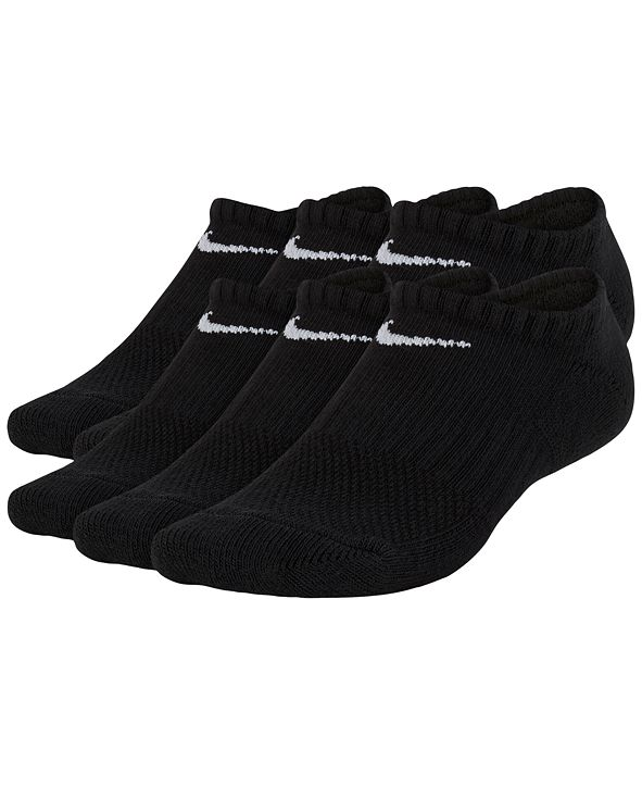Nike 6-Pk. No-Show Cushioned Crew Socks, Big Boys