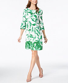 Alfani Lantern-Sleeve Shift Dress, Created for Macy's