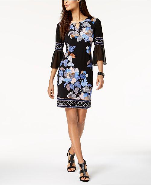 Bloom Robe de serrure Jm avec manches pourAvis Noir Femme et Robes trou en Collection chiffonCree pUSzVqM