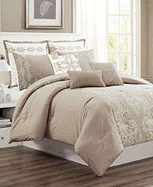 CLOSEOUT! Vilette 8-Pc. Queen Comforter Set