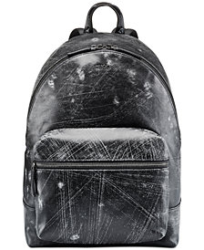 Hugo Boss Men's Abstract Leather Backpack