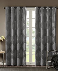 "CLOSEOUT! Bentley 50"" x 95"" Ogee Jacquard Total Blackout Window Panel"
