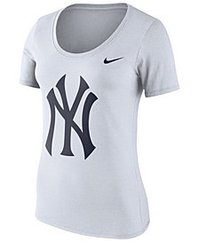 Nike Women's New York Yankees Cotton Crew Logo T-Shirt