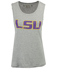 Retro Brand Women's LSU Tigers Rayon Rocker Tank