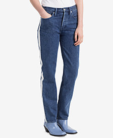 Calvin Klein Performance Vertica Striped Straight Jeans